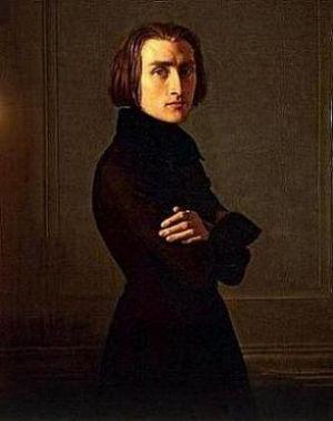 Franz Liszt Portrait Von Lehmann