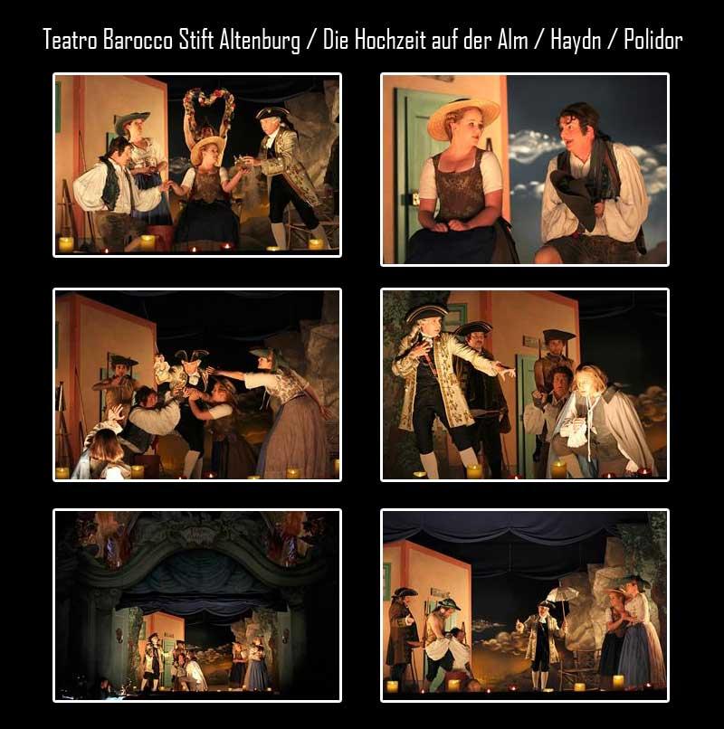 Teatro Barocco Stift Altenburg / Die Hochzeit auf der Alm / Haydn / Polidor