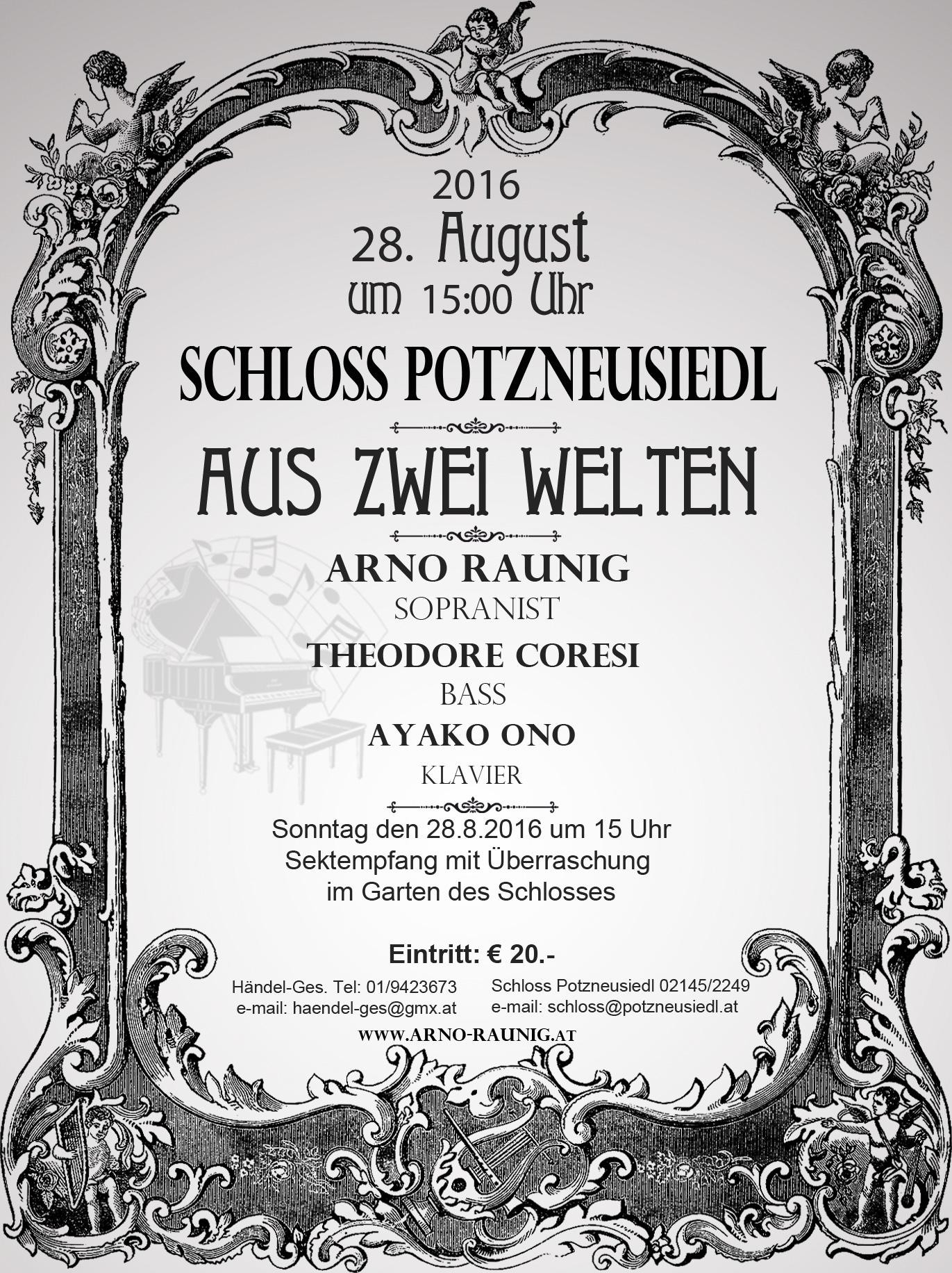 Konzert Aus Zwei Welten 28.8.2016 in Wien