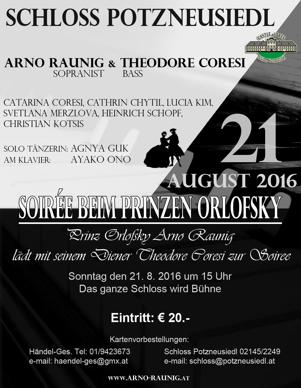 Konzert: Soiree Beim Prinzen Orlofsky 21.8.2016 in Wien